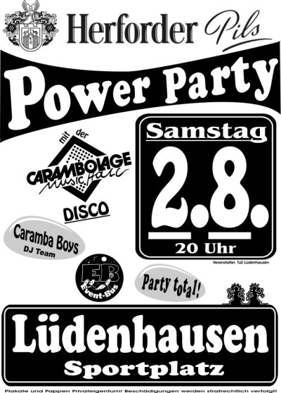 Herforder-Pils-Power-Party 2. August 2008