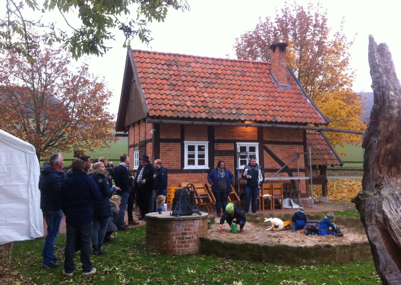 Wanderung der 1. Kompanie nach Göstrup