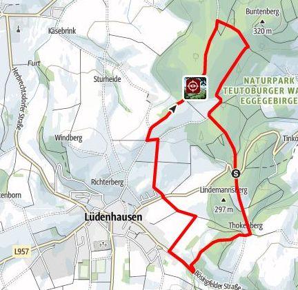 Wanderwege um Lüdenhausen